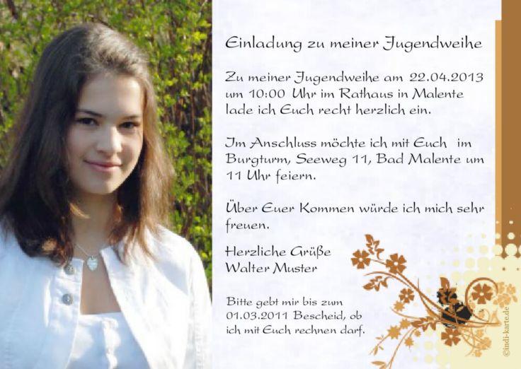 Die Besten 25 Jugendweihe Einladungskarten Ideen Auf Pinterest