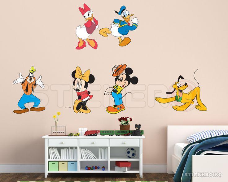 Set Mickey si prietenii - sticker imprimat