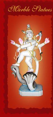 Marble Statues of Hindu God and Goddess #handicraft #hindu #art #god #statue