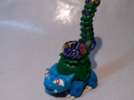 Custom Bulbasaur Pokemon Pipe - Jimwillie Miniatures