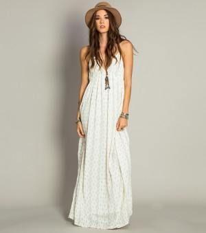 O neill kaya maxi dress ivory
