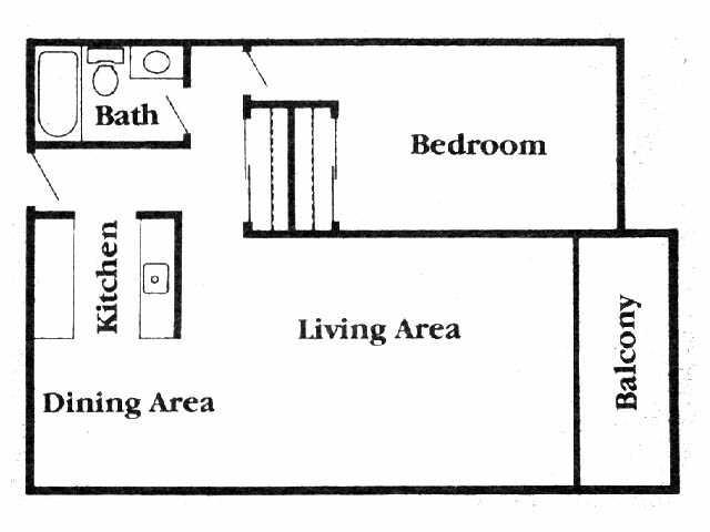 1 bedroom - North Village
