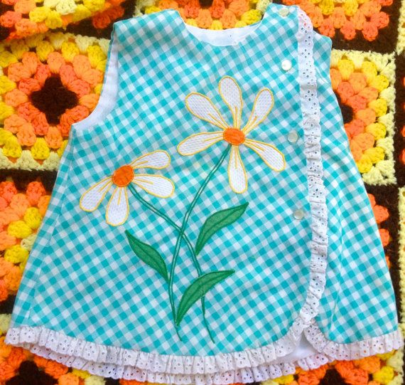70s Daisy Dress 1218 Months by lishyloo on Etsy, $12.00