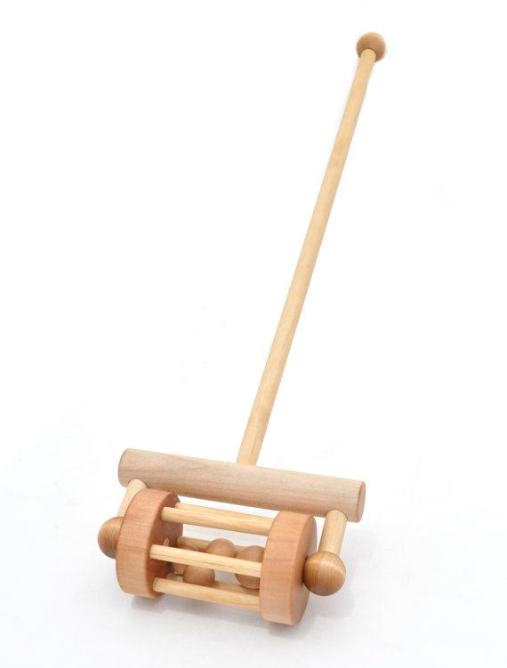 Wooden Push Toy Push and Pull Rattle Wood Toy by KeepsakeToys