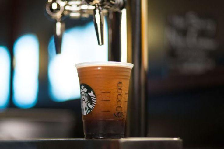 Coffee on tap.  Starbucks NITRO