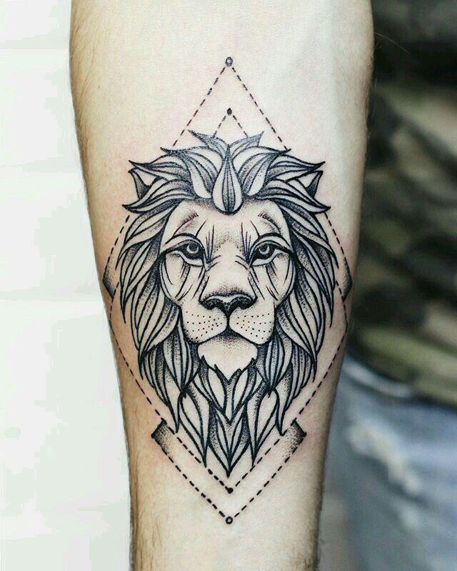 Pin Na Tatuaż Z Lwem