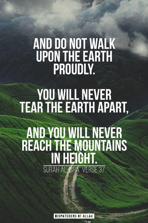 Surah Al Isra, Verse 37