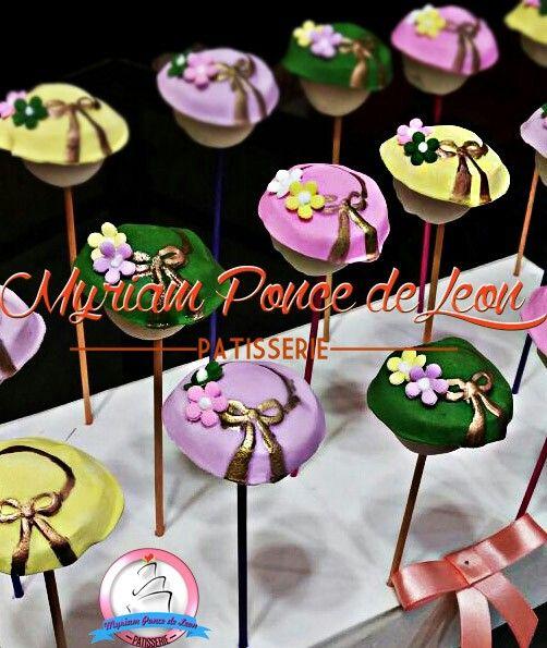 Cake pop capelinas de azucar