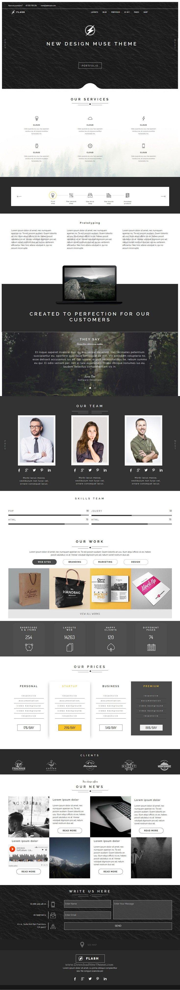 27 best Web design templates ADOBE MUSE images on Pinterest ...