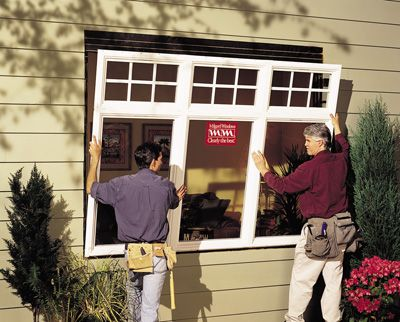 Installing a large window -