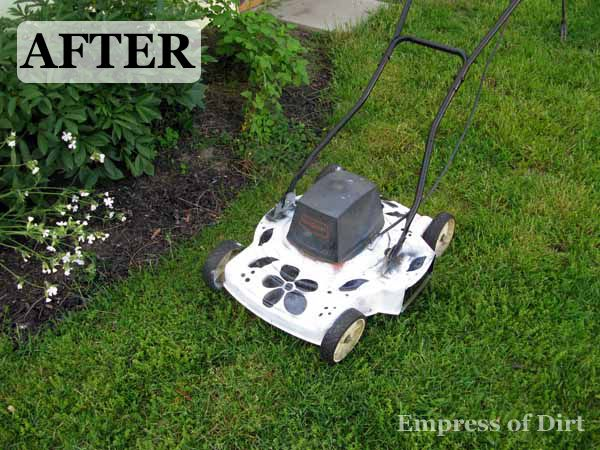 That's one spiffy lawnmower!