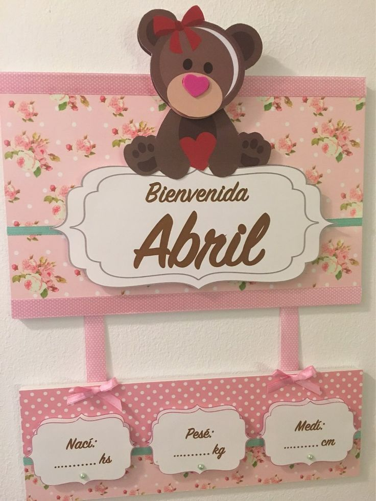 25 best ideas about cartel de bienvenida bebe on for Cartel puerta