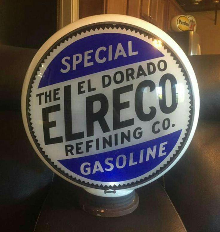 Rare Original Elreco Gas Globe