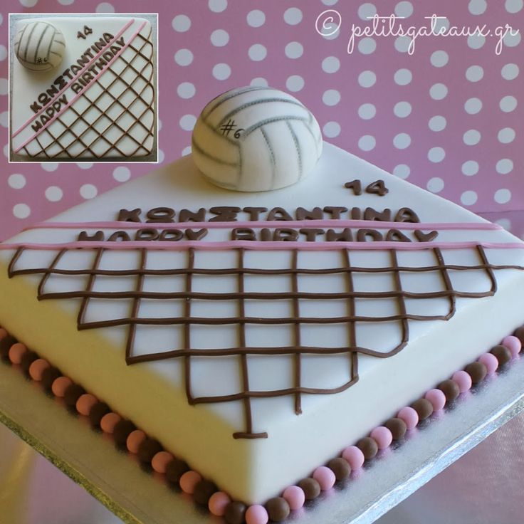 Petits Gâteaux: Volleyball cake!