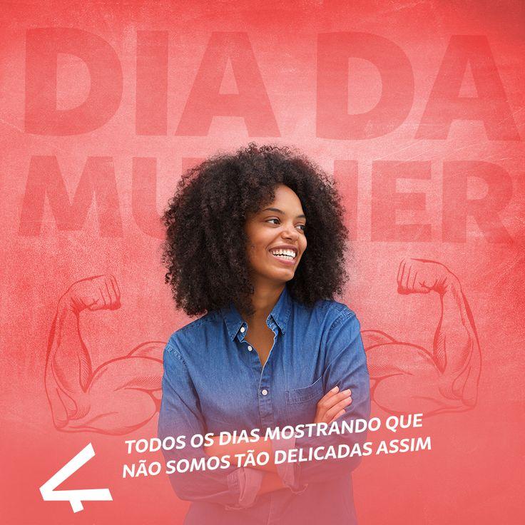 De amigas a mães, de jornalistas, advogadas a publicitárias, todos os dias mostramos que não somos tão frágeis assim. Feliz dia internacional da mulher! 🌹👏