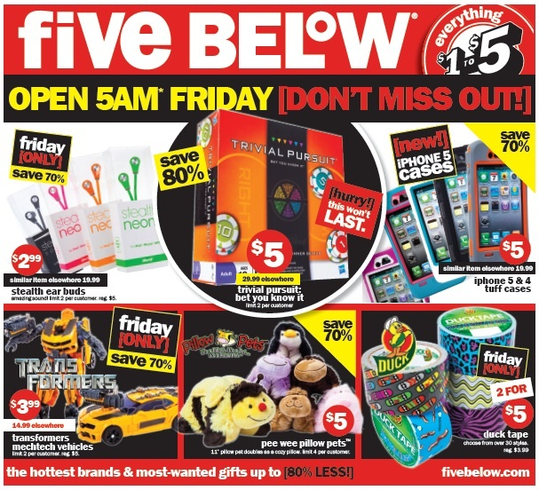 Five below coupon code