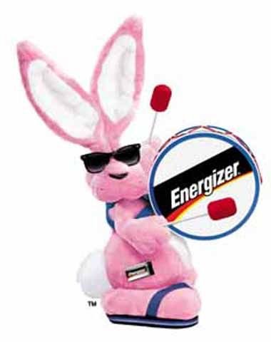 """energized"" Is anything more energized than the Energizer Bunny?"