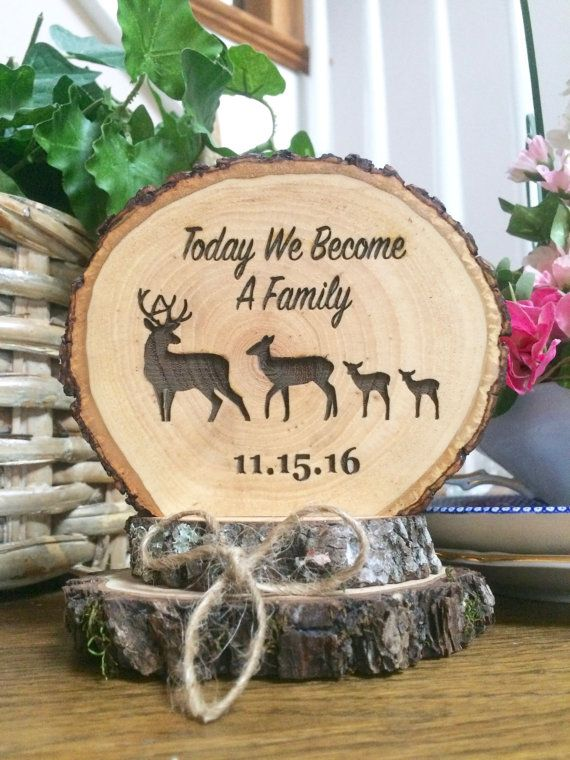 Rustic Wedding Cake Topper Wood Cake Topper by SweetHomeWoods