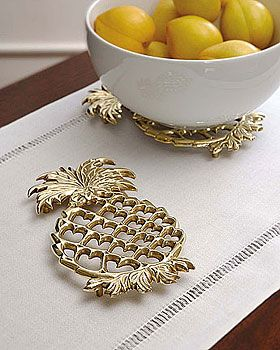 pineapple trivet.-Baldwin Brass - can find under Baldwin Brass on-line.