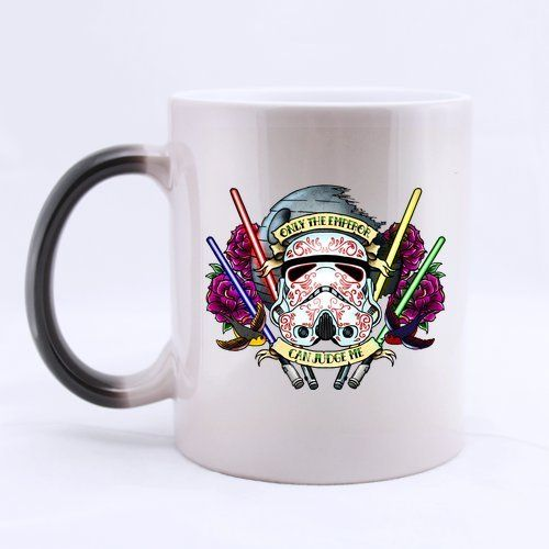 It's like having two different Star Wars Coffee Mugs for the price of one. This heat sensitive StormTrooper mug changes colors depending on the temperature of your coffee. http://starwarsmug.com/star-wars-color-changing-coffee-mugs/