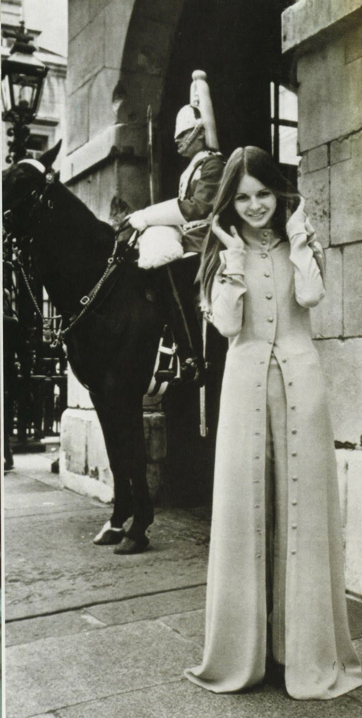 BIBA coat. 1960's photoshoot