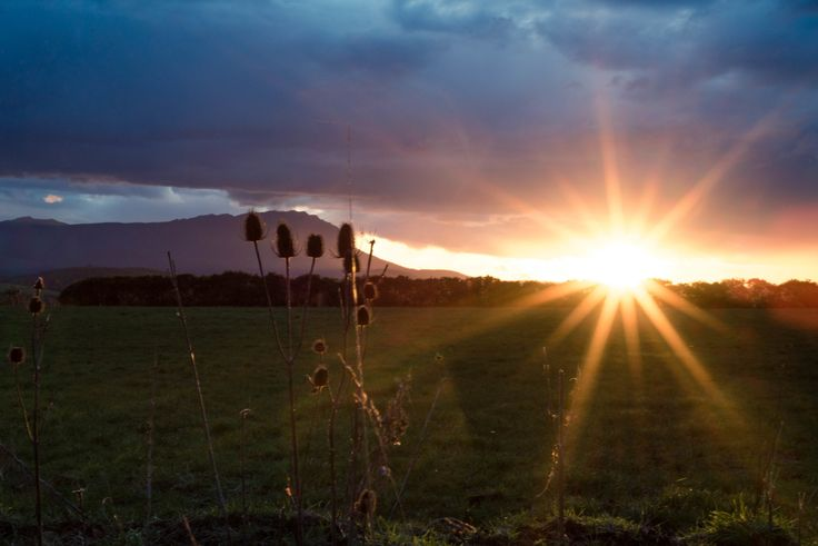 Sunset over the Great Western Tiers, Deloraine, Tasmania, by EVM Pet and Nature Photography