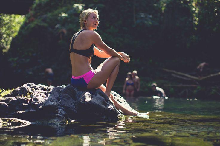 lululemon swim   from big waves to beach bonfires