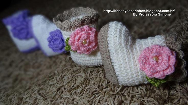 Bottines bébé au crochet , pas à pas en images ! - Crochet Passion