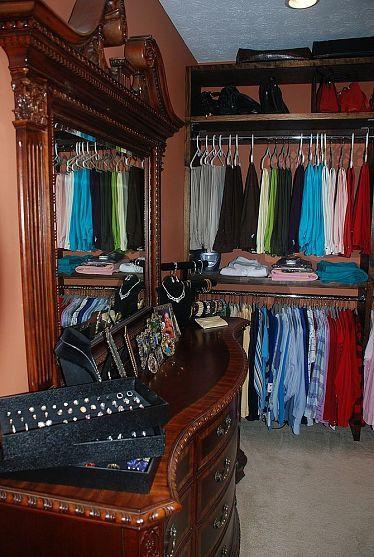 turn a spare bedroom into a closet diy