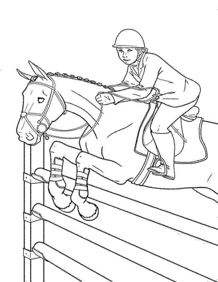 Jumping Horse Coloring Pages Horse Coloring Pages Horse Coloring Horse Coloring Books