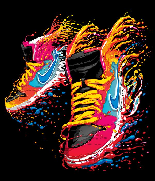 1b048fb2f78c Nike t-shirt design 2012 collection by Brazilian graphic illustrator.  Really fresh.  nike  tshirt  shoe  design
