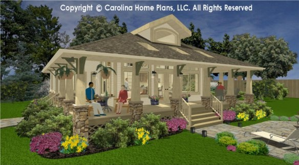 Shared affair the story behind the stone bungalow house for Carolina house plans