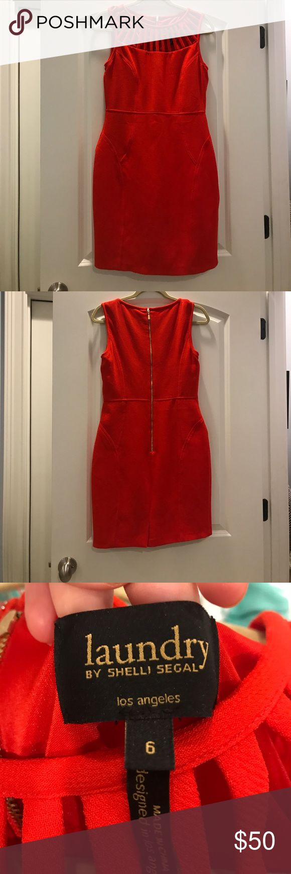Red body-con dress! Never been worn was going to wear it to my homecoming but decided not to go! Super cute for work with a blazer or a night out! Its super flattering and shows off all the right curves! Laundry by Shelli Segal Dresses Prom