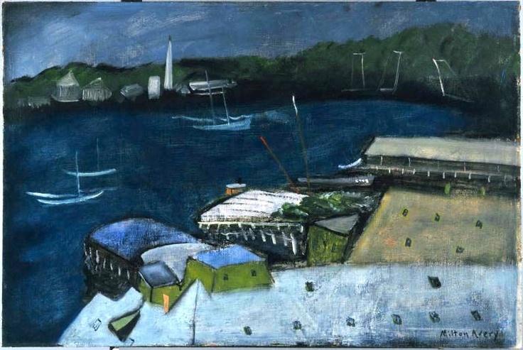 Milton Avery. The Harbor at Night.