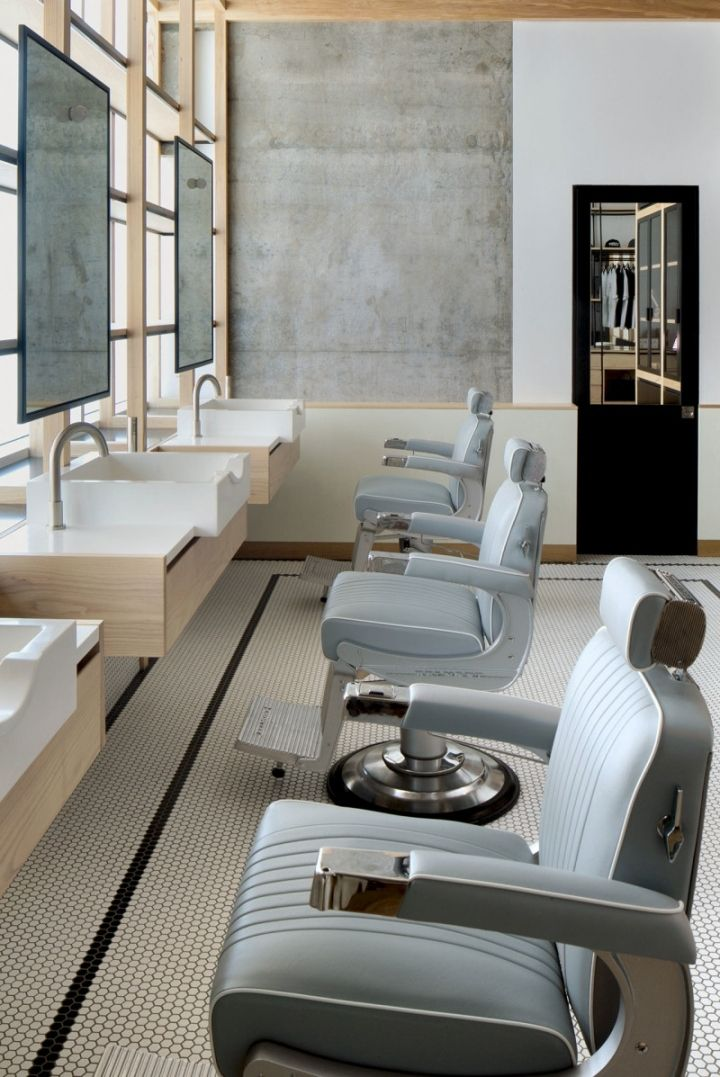 akin barber shop by zak hoke dubai uae retail design blog - Barber Shop Design Ideas
