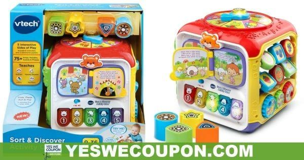 Vtech Sort Discover Activity Cube Walmart Clearance Find In 2020 Walmart Clearance Activity Cube Discover