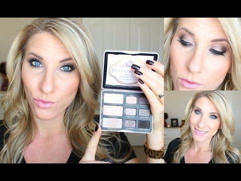 too faced boudoir eyes makeup tutorial
