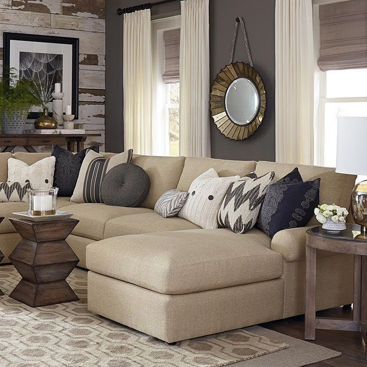 Perfect How To Layer Texture Into A Space. Beige Sofa Living RoomLiving ...