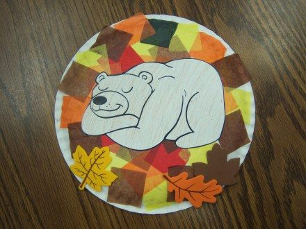 Sleeping bear craft for Bear goes right on snoring