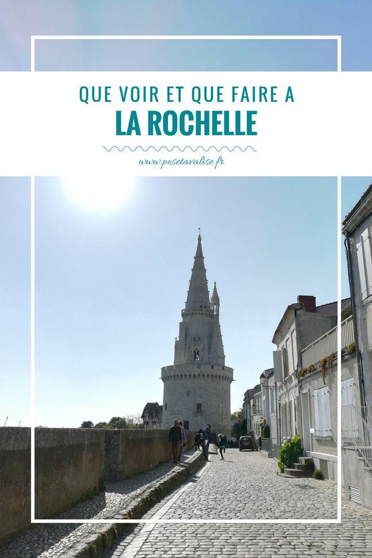 Voici mes conseils pour passer un weekend à La Rochelle ! Visitez la Tour Saint Nicolas, la Tour de la Lanterne, l'aquarium de la rochelle, le vieux port de la rochelle... Allez prendre un café au Columbus Café, déjeuner au restaurant Iseo et déambuler dans les ruelles pour admirer les jolies façades rochelaises et charentaises.  Retrouvez tous les détails sur mon blog. | #blog #voyage #LaRochelle #France