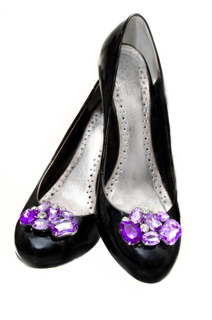 Violet Shoe Clips   www.hadassahshairandbeauty.com.au