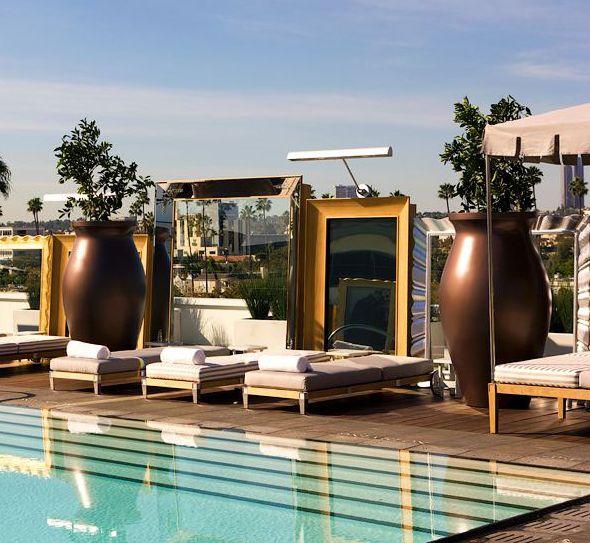 Philipe Starck designed rooftop pool at SLS Hotel (www.slshotels.com)