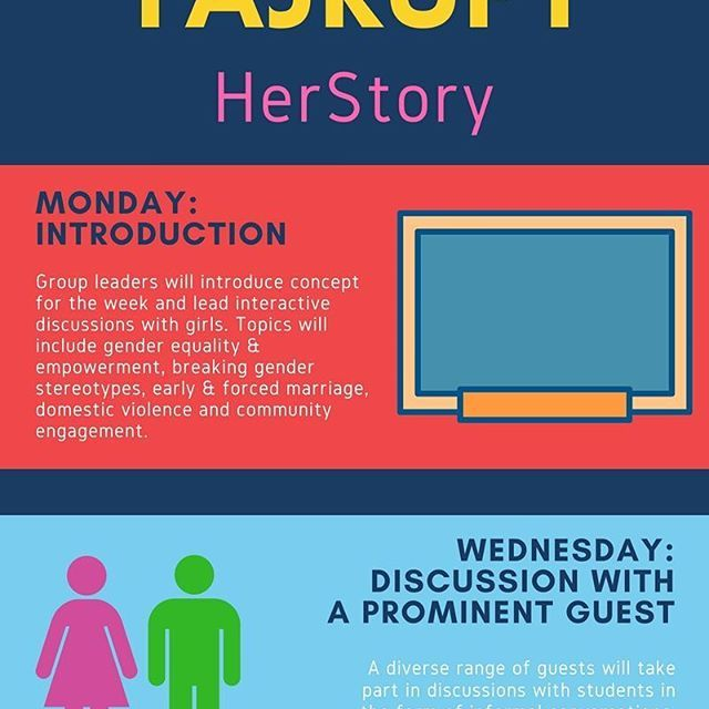 """10-week long """"HerStory"""" course is at the heart of our planned Extracurricular Resource Centers. Full infographic on: facebook.com/tajrupt. The course was modelled after """"Voices against Violence"""" curriculum developed jointly by WAGGGS and UN Women taking into account Tajikistan's context. #TajRupt #HerStory #Tajikistan #HeForShe #UNWomen #WAGGGS #NGO #feminism #gender #equality #girls #women #info #infographic #Таджикистан #равенство #оон #инфо #инфографика"""