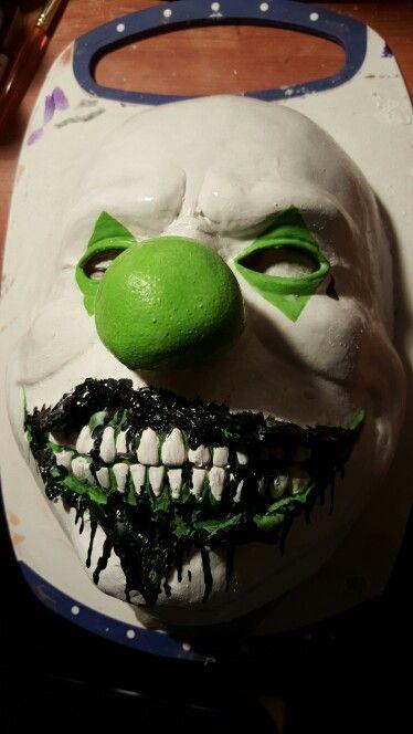 Latex clown mask acrylic paints