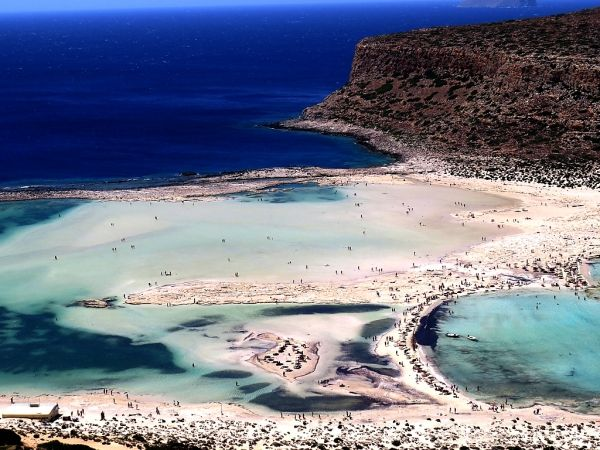 View of Balos from the hill above