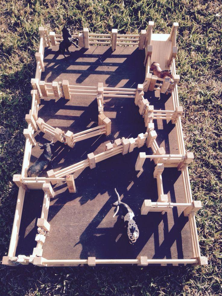 Kids wooden cattle yards