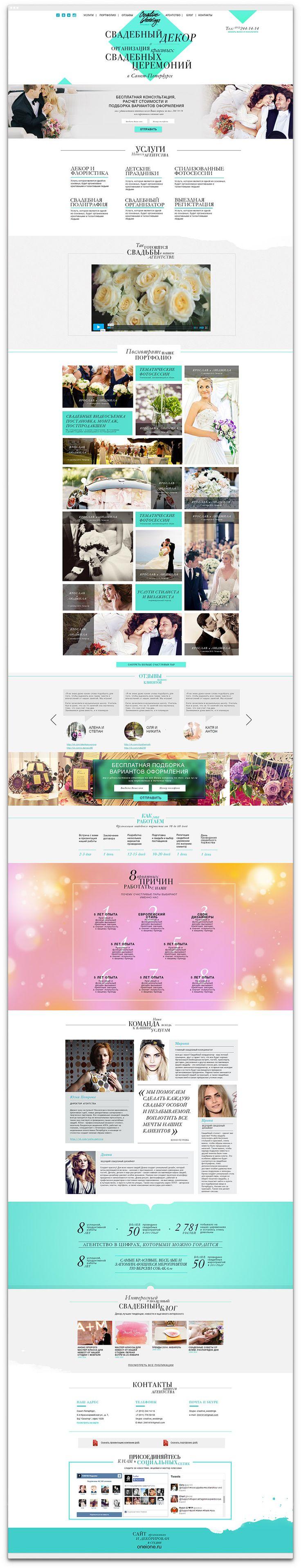 Продающий сайт свадебного агентства Creative Weddings от студии Oneione