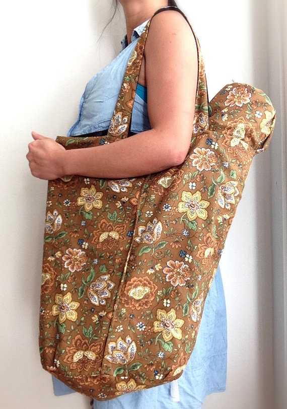 Reversible tote bag with matching yoga mat bag by YogaTotesSydney, $79.00