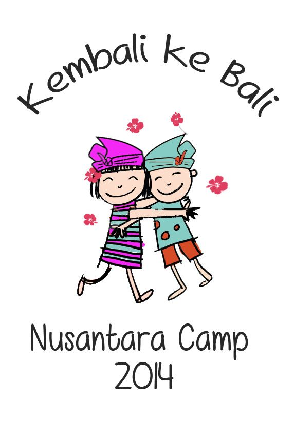 T-shirt design for Nusantara Camp - Bali 2014