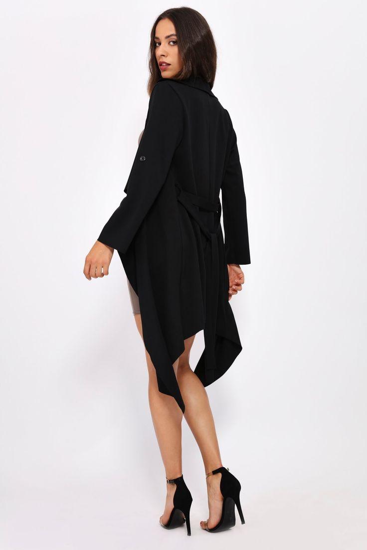Black Waterfall Coat